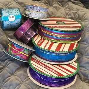 Sparkly Teal, Hot Pink, & Purple Craft Ribbon